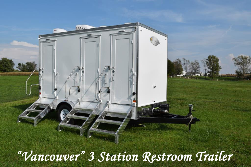 Portable Restroom Trailers For Sale 3 Station Profile