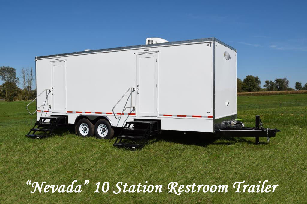 Portable Restroom Trailers For Sale 10 Station Nevada