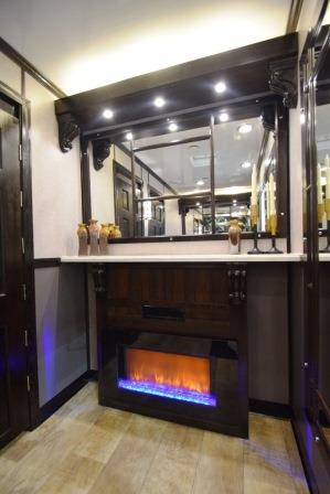 Luxury Portable Restroom Trailers Fireplace